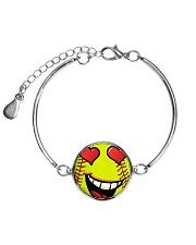 I love softball jewellery earrings and bracelet Metallic Circle Bracelet thumbnail