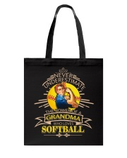Power of a grandma who loves softball Tote Bag thumbnail