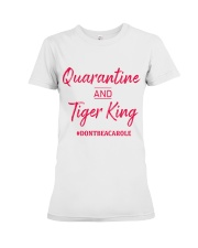 Quarantine and Tiger King Premium Fit Ladies Tee tile