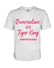 Quarantine and Tiger King V-Neck T-Shirt thumbnail