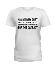 enough interaction Ladies T-Shirt front