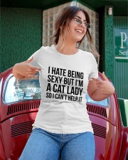 i hate being sexy but i'm a cat lady Ladies T-Shirt apparel-ladies-t-shirt-lifestyle-01