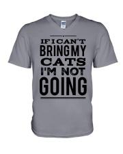 IF I CAN'T BRING CATS V-Neck T-Shirt thumbnail