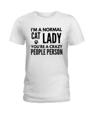 i'm a normal cat lady Ladies T-Shirt front