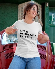 life is better with cats Ladies T-Shirt apparel-ladies-t-shirt-lifestyle-01