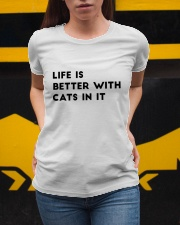 life is better with cats Ladies T-Shirt apparel-ladies-t-shirt-lifestyle-04