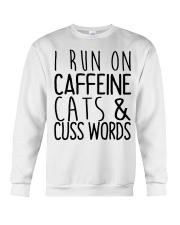i run on cats Crewneck Sweatshirt thumbnail