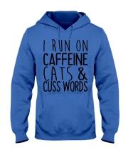 i run on cats Hooded Sweatshirt thumbnail