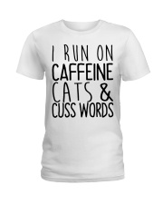 i run on cats Ladies T-Shirt front