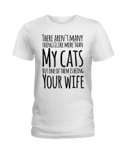 CAT WIFE Ladies T-Shirt front