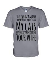 CAT WIFE V-Neck T-Shirt thumbnail