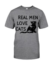 REAL MEN LOVE CATS Classic T-Shirt tile