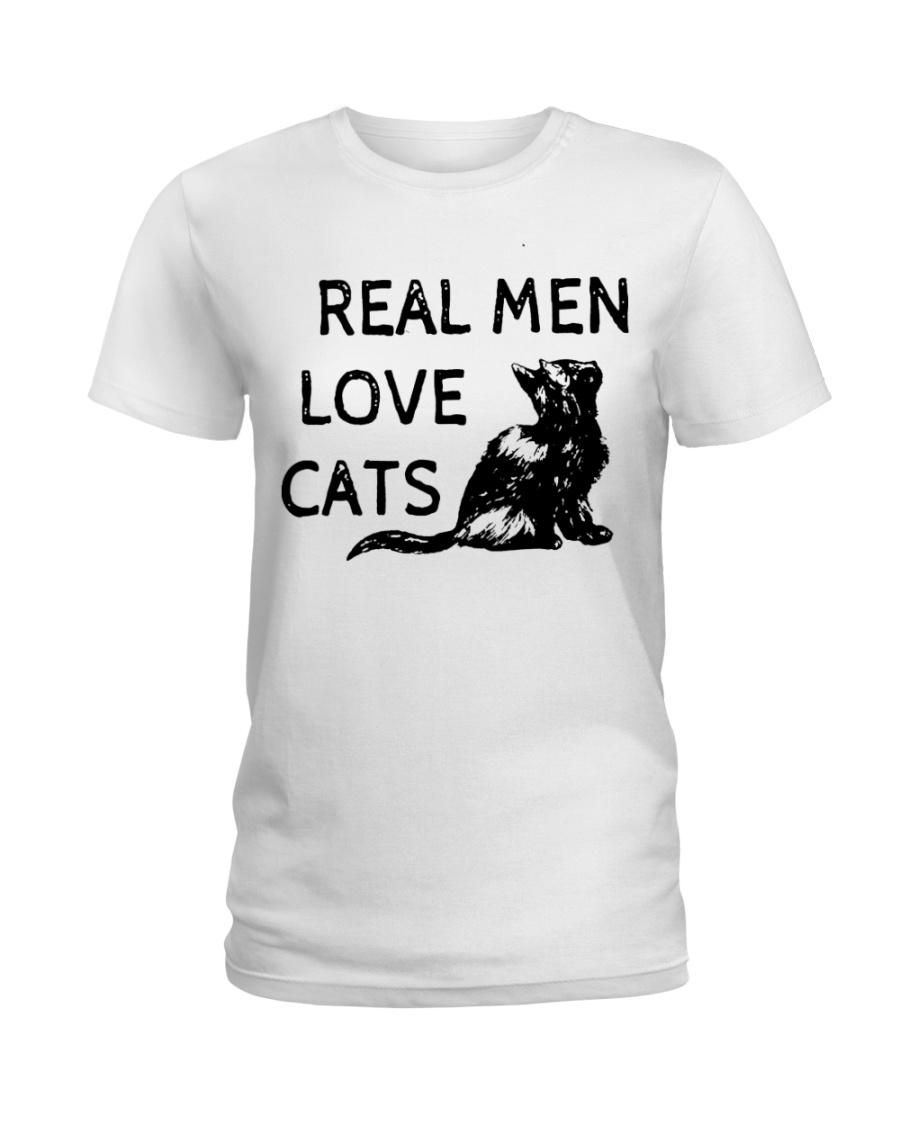 REAL MEN LOVE CATS Ladies T-Shirt