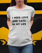 i need love and cats in my life Ladies T-Shirt apparel-ladies-t-shirt-lifestyle-04