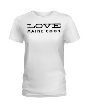 love maine coon Ladies T-Shirt front