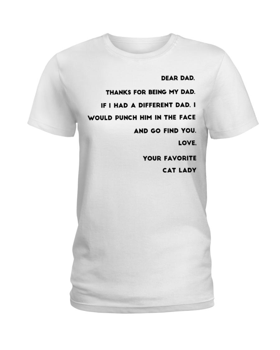 cat lady dad Ladies T-Shirt