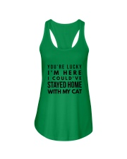 COULD STAY WITH MY CAT Ladies Flowy Tank thumbnail