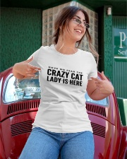 have no fear crazy cat lady is here Ladies T-Shirt apparel-ladies-t-shirt-lifestyle-01
