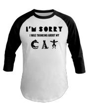 sorry cat Baseball Tee thumbnail