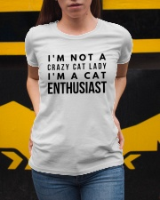 i'm not crazy cat lady Ladies T-Shirt apparel-ladies-t-shirt-lifestyle-04