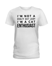 i'm not crazy cat lady Ladies T-Shirt front