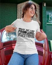 crazy cat lady problems Ladies T-Shirt apparel-ladies-t-shirt-lifestyle-01
