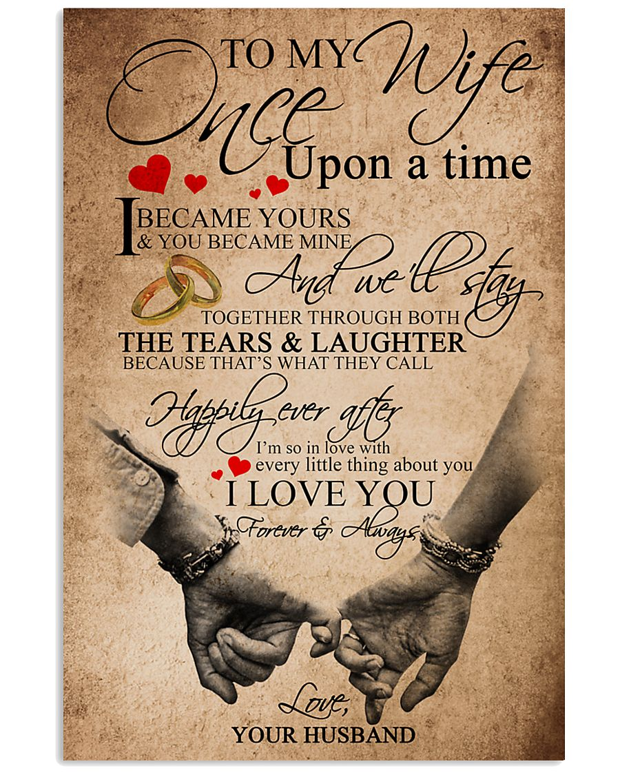 TO MY WIFE B01 11x17 Poster