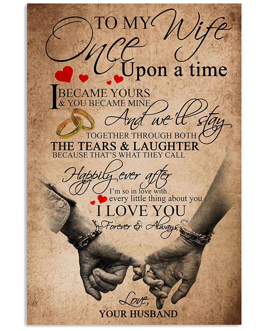 TO MY WIFE B01 24x36 Poster