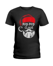 Pop-Pop Claus - Christmas Grandpa Gift T-Shirt  Ladies T-Shirt thumbnail