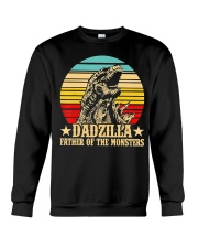 Dadzilla Father Of The Monsters Retro Vintage Crewneck Sweatshirt tile