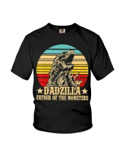 Dadzilla Father Of The Monsters Retro Vintage Youth T-Shirt thumbnail