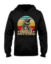 Dadzilla Father Of The Monsters Retro Vintage Hooded Sweatshirt thumbnail