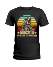 Dadzilla Father Of The Monsters Retro Vintage Ladies T-Shirt tile