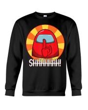 Cool Among Us shirt Crewmate or Impostor SHHHHHHH Crewneck Sweatshirt thumbnail