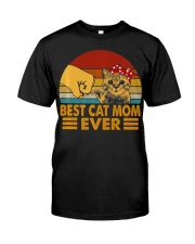 Best Cat Mom Ever Vintage Shirt Best Cat Mom Ever Premium Fit Mens Tee tile