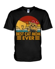 Best Cat Mom Ever Vintage Shirt Best Cat Mom Ever V-Neck T-Shirt thumbnail