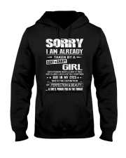 Sorry I Am Already Taken By A Sexy And Crazy Girl Hooded Sweatshirt front