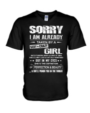 Sorry I Am Already Taken By A Sexy And Crazy Girl V-Neck T-Shirt thumbnail