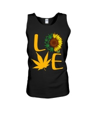 Love Sunflower And Cannabis Marijuana Weed Lover Unisex Tank tile