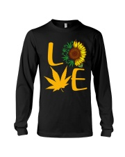 Love Sunflower And Cannabis Marijuana Weed Lover Long Sleeve Tee thumbnail