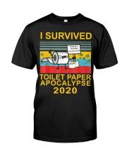 I Survived Toilet Paper Apocalypse 2020 T-Shirt Premium Fit Mens Tee thumbnail