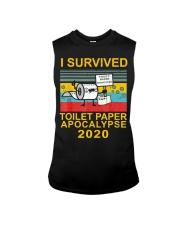 I Survived Toilet Paper Apocalypse 2020 T-Shirt Sleeveless Tee thumbnail