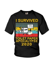 I Survived Toilet Paper Apocalypse 2020 T-Shirt Youth T-Shirt thumbnail