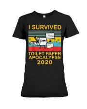 I Survived Toilet Paper Apocalypse 2020 T-Shirt Premium Fit Ladies Tee thumbnail