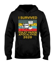 I Survived Toilet Paper Apocalypse 2020 T-Shirt Hooded Sweatshirt front