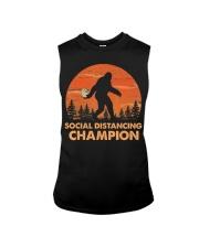Social Distancing Champion Funny Bigfoot Toilet Sleeveless Tee thumbnail