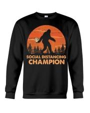 Social Distancing Champion Funny Bigfoot Toilet Crewneck Sweatshirt thumbnail