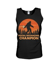 Social Distancing Champion Funny Bigfoot Toilet Unisex Tank tile