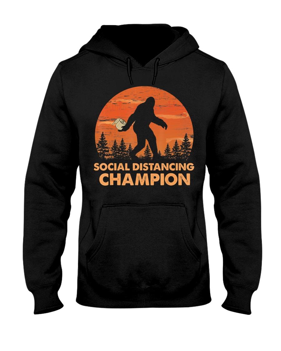 Social Distancing Champion Funny Bigfoot Toilet Hooded Sweatshirt