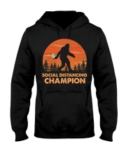 Social Distancing Champion Funny Bigfoot Toilet Hooded Sweatshirt front